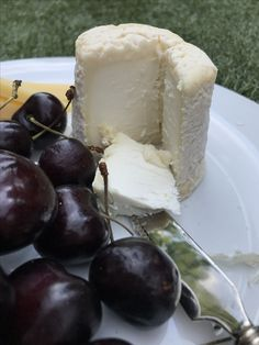Cherries and goats cheese are a perfect pairing and make an effortless alternative to dessert.