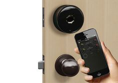 The Danalock is a wireless app-controlled device that fits over your existing lock and controls the deadbolt that's already in place. The Danalock is Bluetooth 4.0 compatible, and the app is available of both iOS and Android users. The device comes with 4 CR123 batteries that will last for about a year before they need to be replaced.
