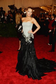 Blake Lively wearing Gucci Premiere @ MET 2013