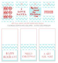 free christmas printables  | Sweetly Scrapped: Free printable christmas tags and mini cards