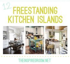 All kinds of different freestanding islands