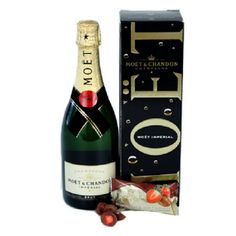 - Impress someone today and tantalise their tastebuds with this famous French Champagne. Moet and Chandon French Champagne Ashmores Strawberries and Cream in Milk Chocolate Presented in a glossy wine bo Moet Imperial, Wine Hampers, Hampers Online, Recipe Icon, Moet Chandon, Famous French, Strawberries And Cream, Wine Gifts, Red Wine