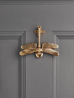 NEW Solid Brass Dragonfly Door Knocker