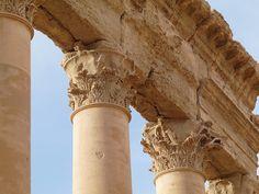 Colonnes - Ruines romaines de Palmyre, Syrie.