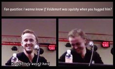 Bahahahaha!!! Tom felton gives the best answers!!