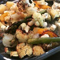 Voita ja Suolaa: Lämmin vihreä kasvislisuke fetalla(salaattijuustolla)