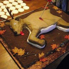 Deer birthday cake
