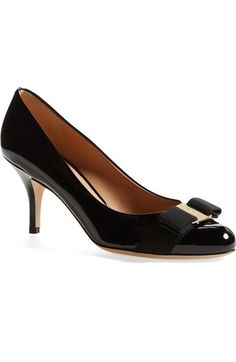 Salvatore Ferragamo 'Carla' Patent Leather Pump (Women) available at #Nordstrom