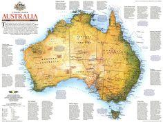 size: Art Print: Maps of Oceania Poster by National Geographic Maps : Artists National Geographic Maps, National Geographic Society, Australia Map, Us Map, Map Art, Find Art, Framed Artwork, Art Prints, Travel