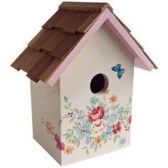 Bird Houses Painted, Decorative Bird Houses, Painted Birdhouses, Style Pastel, Decoupage, Birdhouse Designs, Birdhouse Ideas, Bird House Feeder, Bird Feeders