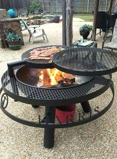 Cool Fire Pits, Diy Fire Pit, Fire Pit Backyard, Backyard Seating, Backyard Landscaping, Backyard Ideas, Firepit Ideas, Landscaping Ideas, Garden Ideas
