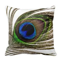 Peacock Feather Pillow - http://www.photographybypixie.com/2014/10/28/peacock-feather-pillow-3/ #photography #photo #gifts #shopping