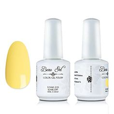 Beau Gel 15ml UV LED Gel Nail Polish Soak Off Color Nail Varnish DIY Nail Art Manicure Light Yellow 198 *** See this great product. (This is an affiliate link and I receive a commission for the sales)