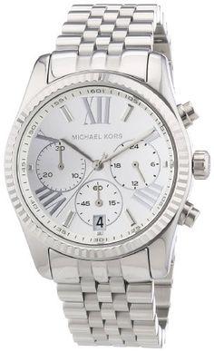 4. Michael Kors MK5555 lexington silver-tone dial stainless steel bracelet women watch NEW