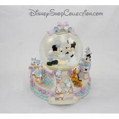Snow globe musical Mickey Minnie DISNEY mariage Wedding March boule à neige 22 cm