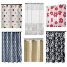Making window curtains out of shower curtains!  Why didn't I think of that?
