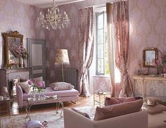40 Shabby Chic Living Room Interior Designs for a Romantic Atmosphere - Decoration 4 Salon Shabby Chic, Casas Shabby Chic, Shabby Chic Stil, Shabby Chic Homes, Cortinas Shabby Chic, Rideaux Shabby Chic, Shabby Chic Curtains, Romantic Living Room, Shabby Chic Living Room