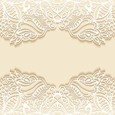 White lace with colored background vector set 06