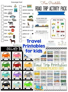 10 tips for traveling with kids - printables, games, activities - this has it all! Road Trip With Kids, Family Road Trips, Travel With Kids, Family Travel, Toddler Travel, Family Vacations, Car Travel, Travel Packing, Travel Tips