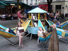 bibliambule bibliothèque mobile tricycle ville urbanisme