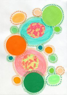 Overview: Exploring the circle as the main topic of this collage artwork, I wanted to recreate a sort of abstract concept of how I see the full circle of natural life. This circles are pulsating, ...
