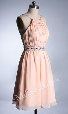 Pink mit Pailletten kurz Abendkleid mit Schleppe ASLY350 1