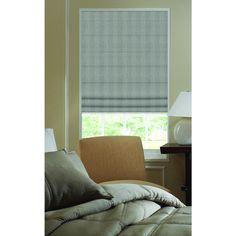 Roman Ashton Stripe Greysmoke 28 to 28.5 Inches Plain Fold Wide Shades