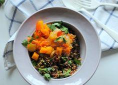 Salada morna com quinoa e lentilhas #salada #food #quinoa #lentilhas