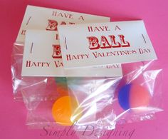 Have a Ball Valentine {FREE printable} - Simply Designing with Ashley