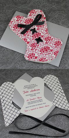 Lace-Up Corset Invitation Template...cute for a lingerie shower!