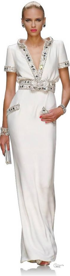 This is gorgeous.  I will never go anywhere I can wear this, but it is beautiful!