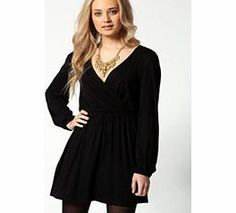 boohoo Adriana Jersey Long Sleeve Wrap Dress - black Show off those curves with this sexy wrap dress. http://www.comparestoreprices.co.uk/dresses/boohoo-adriana-jersey-long-sleeve-wrap-dress--black.asp
