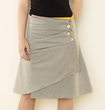 asymmetrical folds skirt
