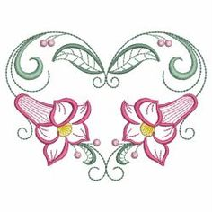 Vintage Graceful Flowers 03(Sm) machine embroidery designs