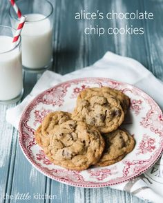 """Alice's Chocolate Chip Cookies Recipe - """"the best ever"""". And because I obviously need yet another """"best ever"""" chocolate chip cookie recipe."""