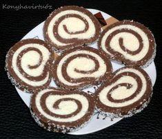 Konyhavirtuóz: Grízes kókusztekercs No Salt Recipes, Sweet Recipes, Sweet Desserts, Dessert Recipes, European Cuisine, Hungarian Recipes, Cake Cookies, Food Porn, Food And Drink