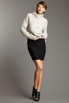 big sweater little skirt