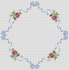 Cross stitch pattern for tablecloth Cross Stitch Borders, Cross Stitch Rose, Modern Cross Stitch, Cross Stitch Flowers, Cross Stitch Charts, Cross Stitch Designs, Cross Stitching, Cross Stitch Embroidery, Embroidery Patterns