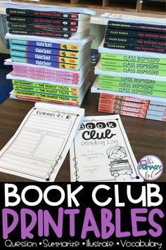 Looking for a change of pace during this CRAZY spring season? My students and I absolutely LOVE Book Clubs! They are a great way to keep things academic, while taking a bit of a break from your usual reading routines. I typically do Book Clubs during the weeks of statewide testing.