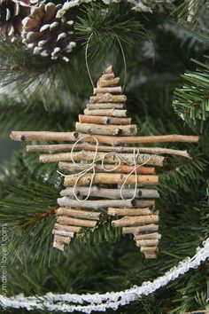 Twig and Wire Christmas Ornaments