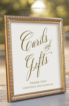 Custom Printable Cards and Gifts Sign by KarameleStationery