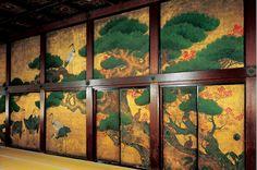Japan Kyoto Nishihonganji 西本願寺屏風絵