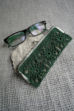 Koronkowe etui na okulary lub portmonetka - RetroDuch - Etui na okulary