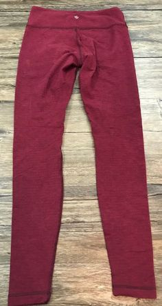 Lululemon Wunder Under Red Space Dye Pants Womens Sz 6    eBay Lululemon  Wunder Under 8da78c954e13