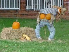 redneck halloween lawn decoration