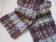 Blue Green and Purple Plaid Scarf by CarolBeckDesigns on Etsy