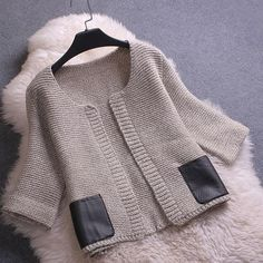 SENS Best Quality Women Knitted Casual Outerwear New Arrival 2015 Autumn Fashion Female Short Cardigan Sweater Best Cardigans, Cheap Cardigans, Cardigans For Women, Coats For Women, Cardigan Fashion, Knit Fashion, Look Fashion, Autumn Fashion, Female Shorts
