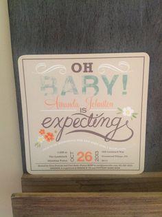 Invite for baby shower