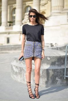 New ways to put outfits together, including smart use of the simple black t-shirt