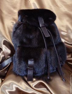 Купить Рюкзак из меха норки - коричневый, рюкзак, рюкзак ручной работы, рюкзачок, рюкзак для девушки